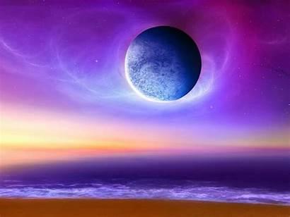 Planet Sci Fi Beach Sky Wallpapers Purple