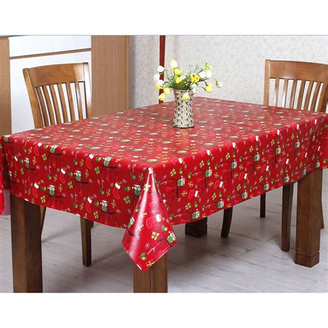 wipe clean table cloth red xmas owls pvc wipe clean christmas tablecloth table cover