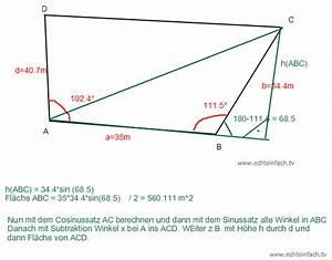 Streckungsfaktor Berechnen : trigonometrie trigonometrie viereckiges grundst ck fl cheninhalt mathelounge ~ Themetempest.com Abrechnung