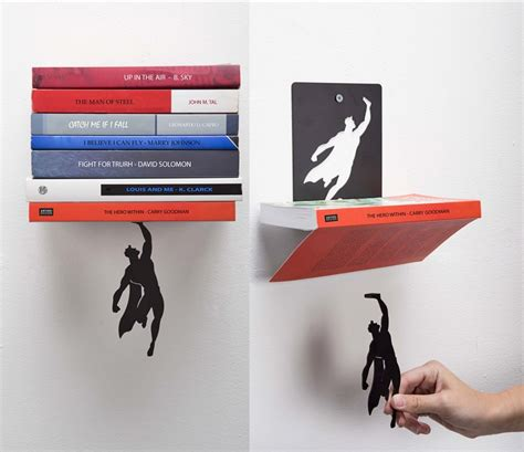 supershelf  book shelf      superman