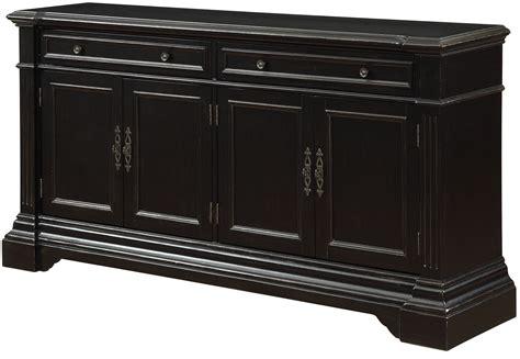 credenza black le point black rub 2 drawer 4 door media credenza from