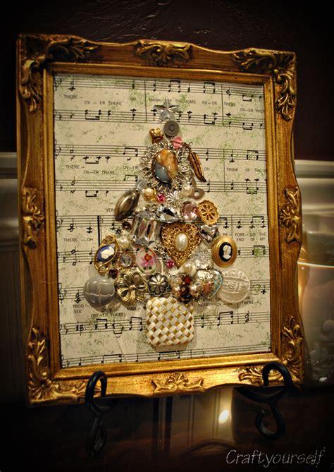 framed vintage christmas tree craft