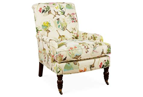 Abigail Floral Accent Chair, Beige/multi, From One Kings Lane