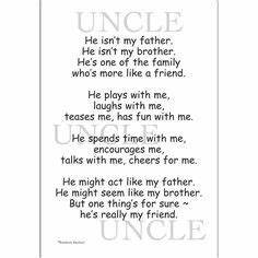 Best 25+ Uncle ... Uncle And Baby Quotes