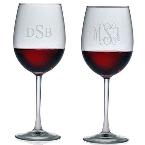 susquehanna  purpose wine glasses monogram set