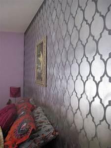 cutting edge stencils don t be a bore use metallic wall