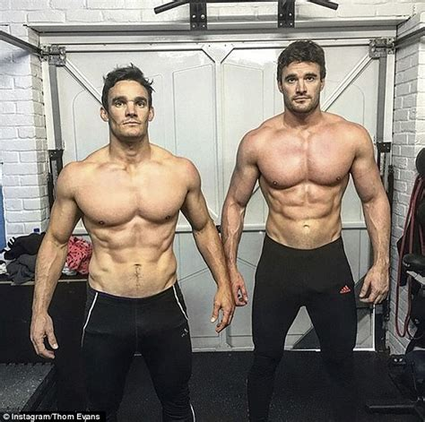tom bateman rugby thom evans strips off with his lookalike brother daily