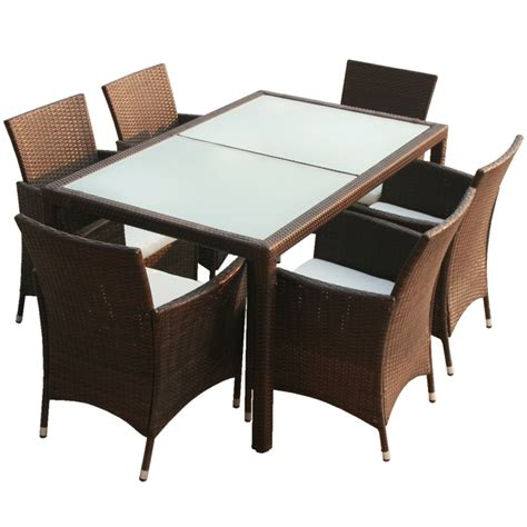 table 6 chaises la boutique en ligne ensemble table 6 chaises rotin marron