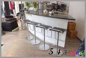 Bar theke tresen bartheke mit kuhlung oval corian ebay for Bar theke gebraucht