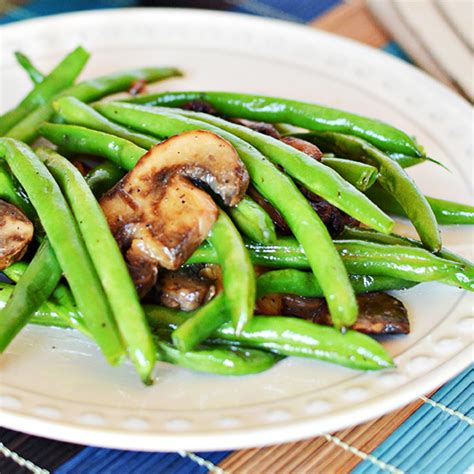 easy green beans  mushrooms recipe home cooking memories