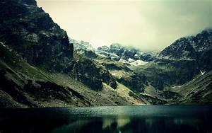 Landscape, Lake, Mountain, Mist, Reflection, Nature