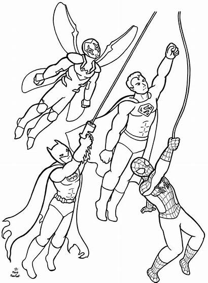 Coloring Superhero Pages Superheroes Dc Boys Printable