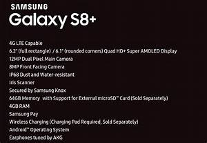 S8 Plus Fiche Technique : galaxy s8 plus full specifications listed here high quality accessory could also be provided ~ Medecine-chirurgie-esthetiques.com Avis de Voitures