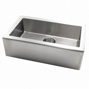 shop jacuzzi 20 in x 33 in stainless steel single basin With 20 inch apron front sink