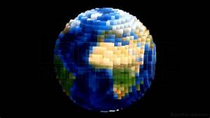 Voxel Planet Earth Globe Spin Loop - BassVisuals.com - YouTube