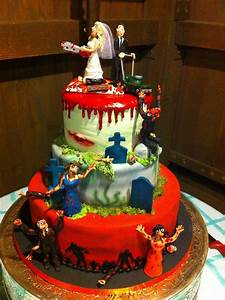 Design Zombie Zombie Wedding Cakes Decoration Ideas Little Birthday