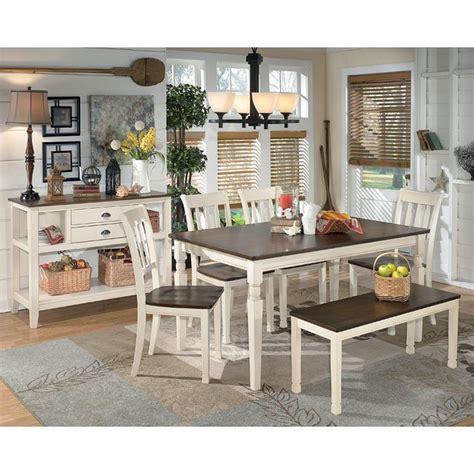 whitesburg dining room set  bench signature design