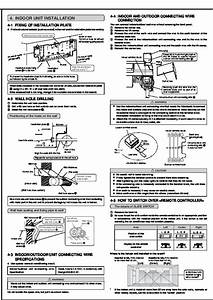 Mitsubishi Msz Fa25 Fa35va Muz Fa25 Fa35va Wall Air Conditioner Installation Manual