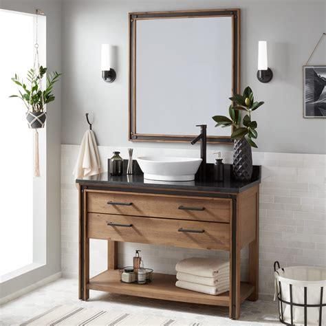 celebration console vessel sink vanity rustic acacia