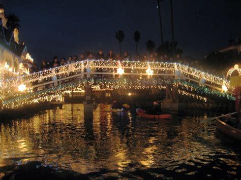Venice Boat Parade by Venice Canal Lights And Boat Parade The Raskin