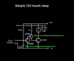 Free Circuit Diagrams 4u  Simple Touch Lamp Curcuit