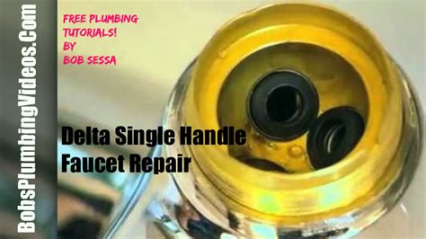 delta faucet repair single handle youtube