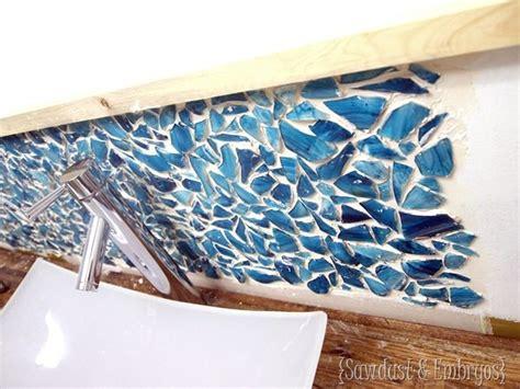 Diy Glass Backsplash : Diy Mason Jar Mosaic Backsplash