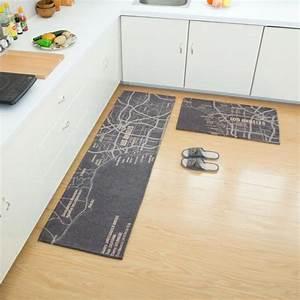 Tapis De Cuisine Long : lot de 2 tapis de cuisine devant vier 45 x 120cm 40 x 60cm tapis passage couloir antid rapant ~ Teatrodelosmanantiales.com Idées de Décoration