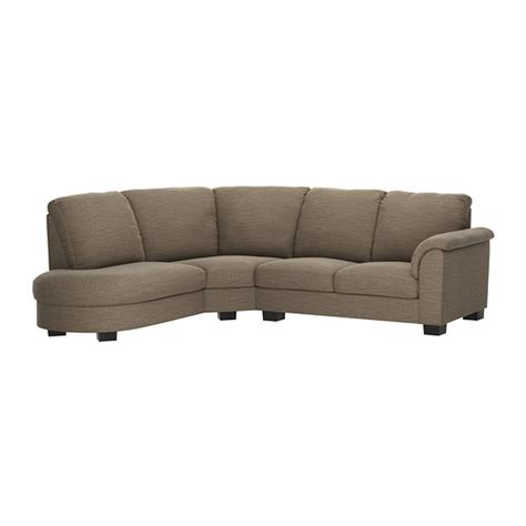 tidafors corner sofa with arm right hensta light brown ikea