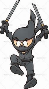 Cartoon Ninja   Black cartoon, Vector graphics and Vector ...
