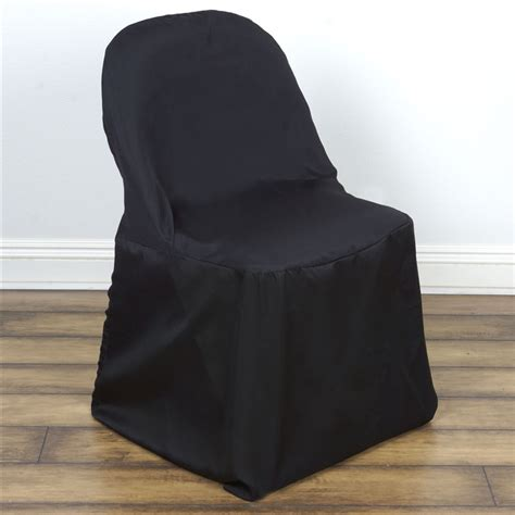 1 folding polyester fabric chair covers wedding