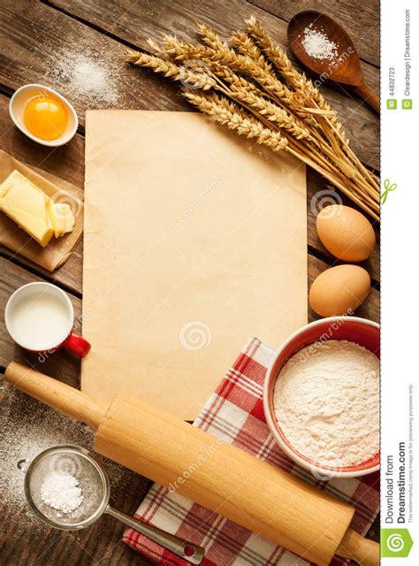 les fonds de cuisine ingrédients ruraux de gâteau de cuisson de cuisine et