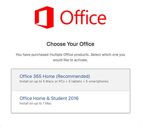 activate office 2016 for mac office 365