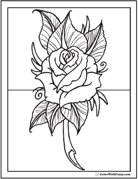 In most of the printables, the roses are drawn with other objects, like hearts and skulls. 73+ Rose Coloring Pages: Customize PDF Printables
