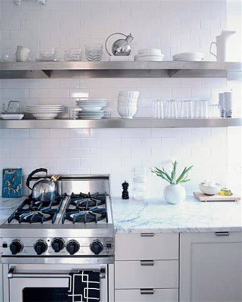 stainless shelves industrial kitchen pinterest 15 dramatic kitchen designs with stainless steel shelves