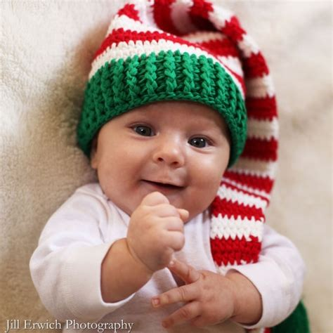crochet baby christmas elf hat favething com