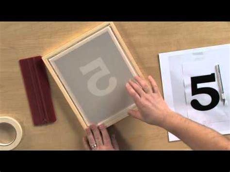 screen print   stencil technique youtube