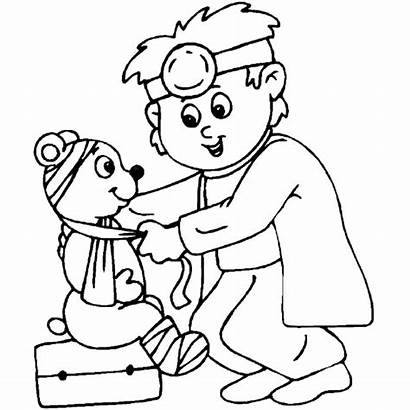 Coloring Doctor Pages Hospital Theme Community Helpers