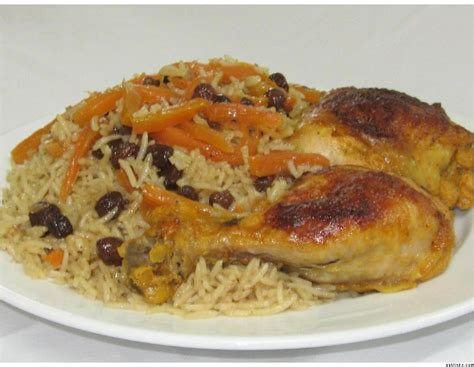 afghan cuisine qabili murg palau rice dish with chicken afghan