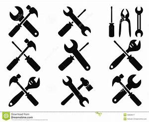 Repair tool icons set stock vector Image of peen, ball