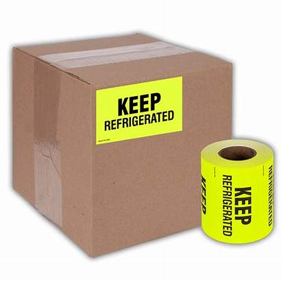 Refrigerated Keep Shipping Label Stickers Fluorescent Kenco