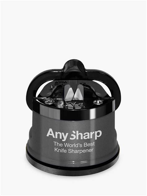 AnySharp Knife Sharpener Pro, Gunmetal Grey at John Lewis