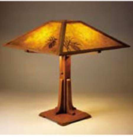 arts  crafts table lamp woodworking plan