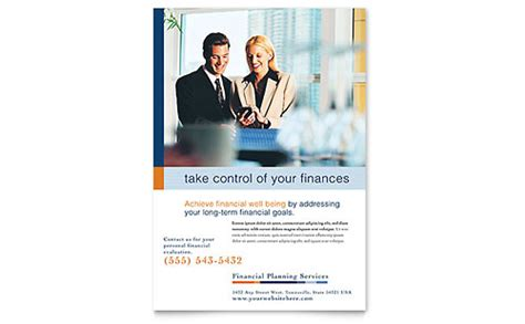 financial planning consulting business card letterhead