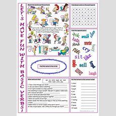 Basic Verbs Vocabulary Exercises Worksheet  Free Esl Printable Worksheets Made By Teachers
