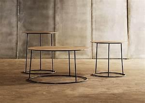 Table De Chevet Hauteur 70 Cm : la table basse atole ch ne 70 cm sur 36 cm de hauteur de style moderniste ~ Teatrodelosmanantiales.com Idées de Décoration