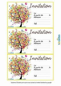 Invitation Anniversaire Fille 9 Ans : invitation imprimer l 39 arbre des anniversaires pixel ~ Melissatoandfro.com Idées de Décoration