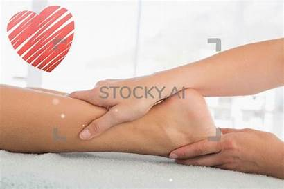 Massage Spa Woman Leg Receiving Magical Gifs
