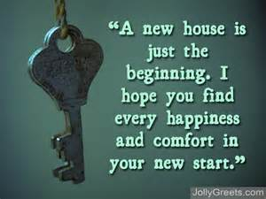 On Your New Home Congratulations Message