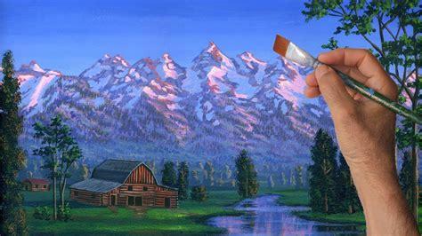 toile a peindre mur peindre montagne cours complet paysage rural 233 table le 231 on acrylique